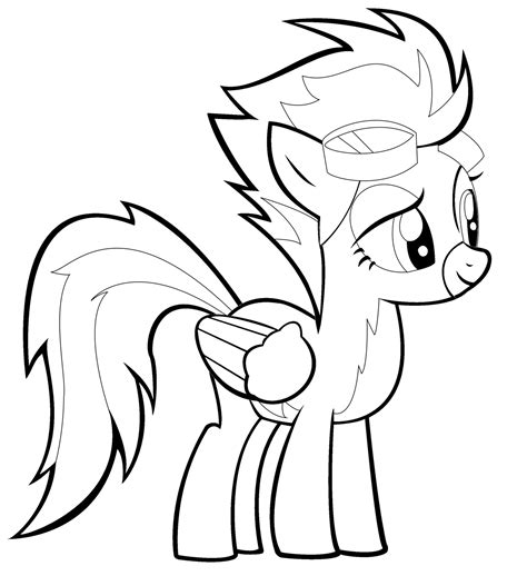 My Little Pony Coloring Pages Spitfire | spitfire my little pony coloring pages coloring pages