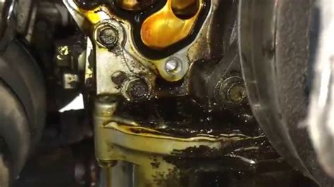 honda odyssey engine oil leak youtube