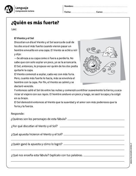 rosa preguntas de comprension 191 qui 233 n es m 225 s fuerte lengua castellana pinterest