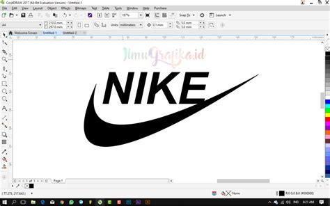video tutorial coreldraw dasar tutorial coreldraw dasar membuat logo nike dengan