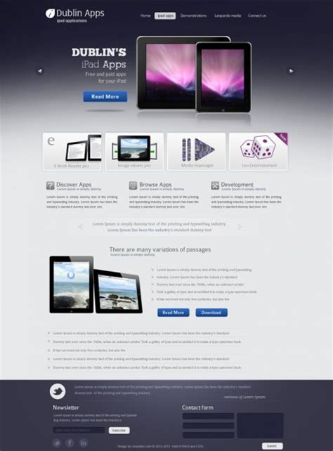 iphone layout download professional premium website design template for ipad and