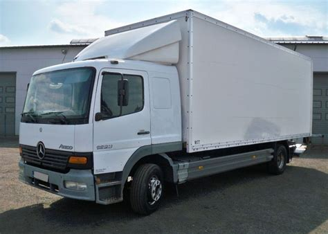mercedes box truck for sale mercedes atego 1223 box truck from poland for sale at