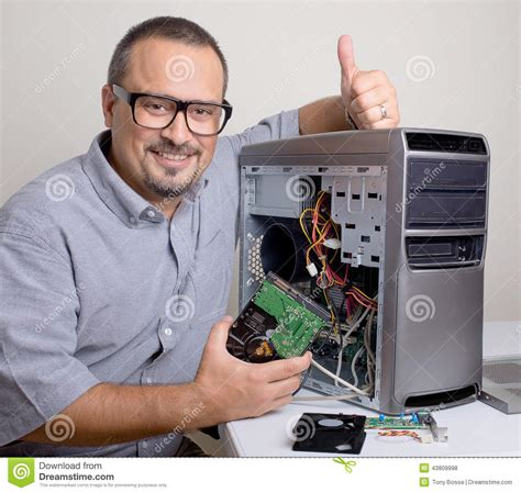 computer repair its taken care of stock photo image