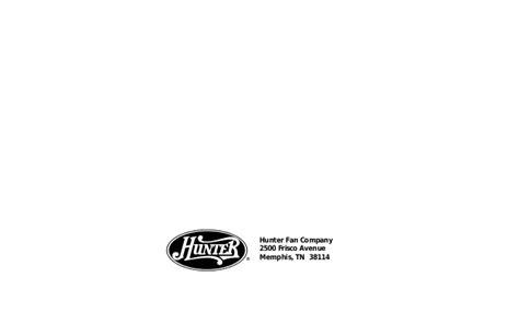 hunter fan company memphis tn 38114 manual ventilador