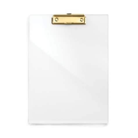 Exclusive Fancy Clipboard Bantex 8819 acrylic gold clip board stationery and office acrylics teaching and twists
