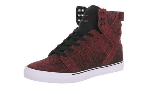 supra high top sneakers supra skytop high top sneakers in burgundy black white