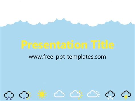 powerpoint templates free weather weather ppt template