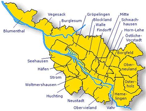 städtekarte deutschland deutschlandkarte bremen karte regionen bild