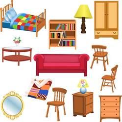 free vector がらくた素材庫 お洒落な家具のクリップアート variety of furniture