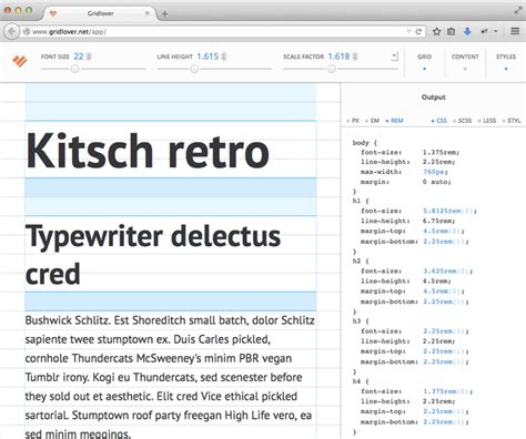 typography vertical rhythm handy web app archives 171 sparetype