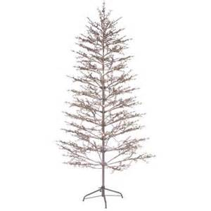 ge 6 5 ft pre lit led brown winter berry branch tree with