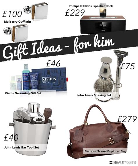 gift ideas for him beautylovin