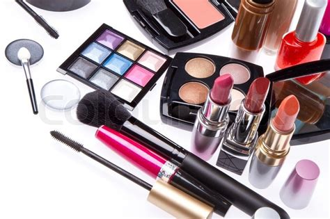 imagenes makeup set of cosmetic makeup products stock photo colourbox
