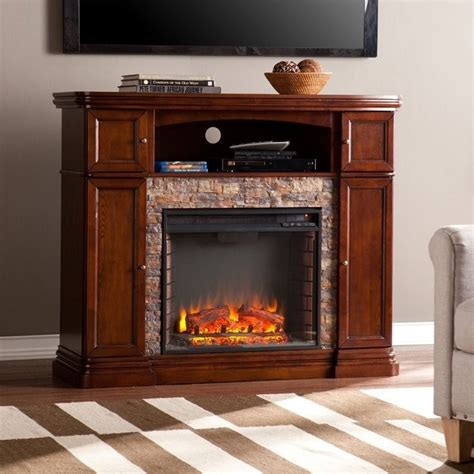 southern enterprises hillcrest electric media fireplace in