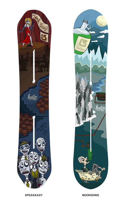 backyard snowboard burton snowboard designs contest submission moonshine