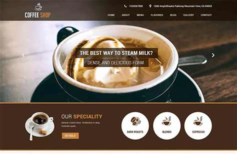 best coffee shop websites 12 best coffee shop themes for