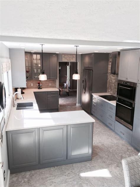 ikea bodbyn gray kitchen ikea kitchens pinterest