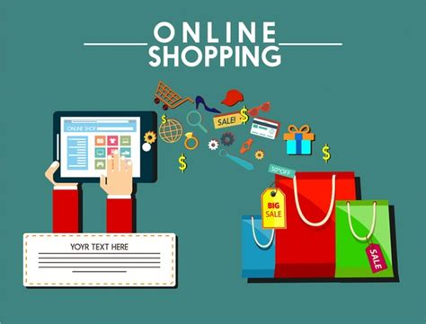 design online marketplace online shopping design elements bags computer and symbols