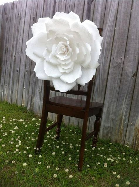 How To Make Large Paper Flowers For Wedding - groom wedding chair decor large paper flowers