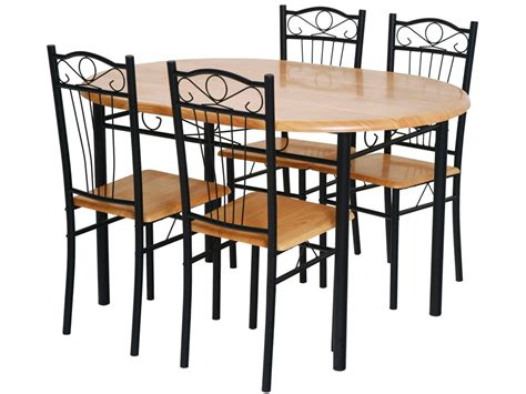 table 4 chaises ensemble table 4 chaises quot sally quot noir 52767