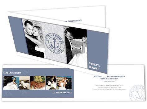 hochzeitseinladung anker dankeskarten mit foto anker hochzeitslogo