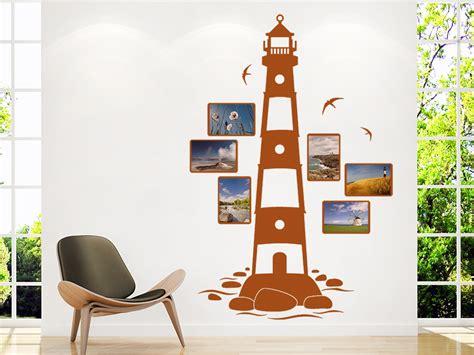 kinderzimmer bild leuchtturm wandtattoo fotorahmen leuchtturm mit bilderrahmen