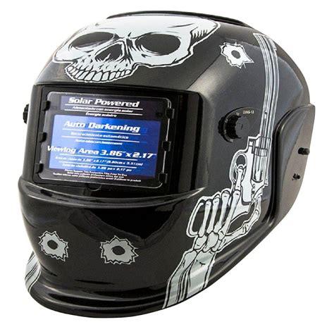 titan auto darkening welding helmet  skull  pistols