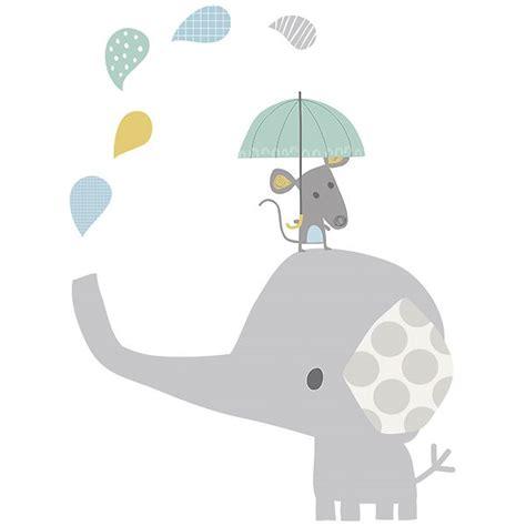 Mae Wall Stickers sticker enfant xl el 233 phant sous la pluie lilipinso ma