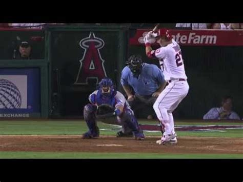 mike trout slow motion swing mike trout mlb slow motion instant replay baseball swing