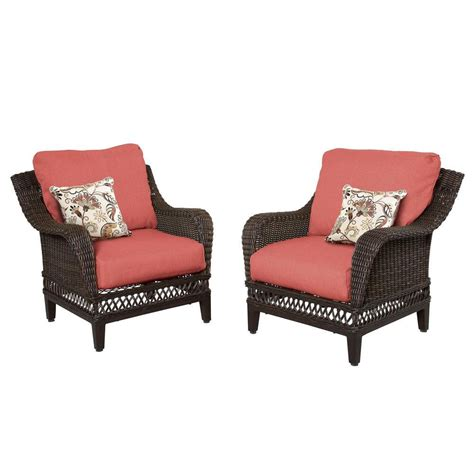 Patio Lounge Chairs With Cushions Hton Bay Woodbury Wicker Outdoor Patio Lounge Chair