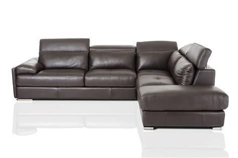 Espresso Sectional Sofa Divani Casa Pistoia Modern Espresso Leather Sectional Sofa
