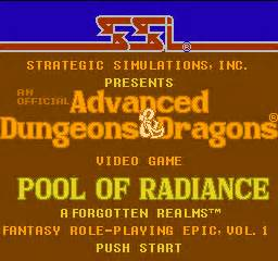 pool of radiance download 1988 role playing game advanced dungeons dragons pool of radiance usa rom