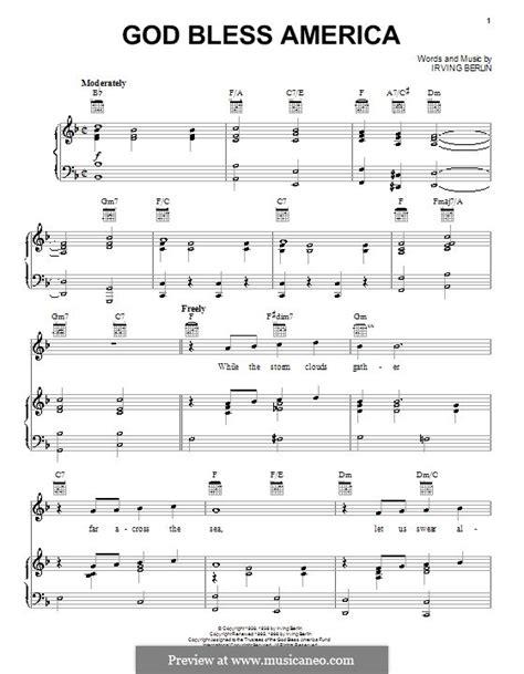 printable lyrics god bless america god bless america sheet music printable free music