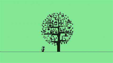 minimalism cat tree hd wallpaper wallpapersfans com tree minimalism hd artist 4k wallpapers images