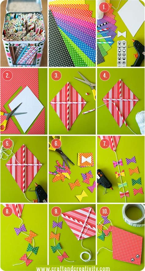 How To Make A Kite With Paper And Straws - diy kite ideas diy projects craft ideas how to s for