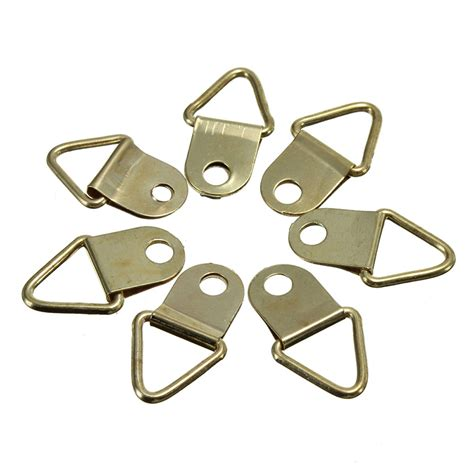 100pcs creative new golden picture hangers brass triangle photo 100x picture frame hanging triangle d rings frames hanger