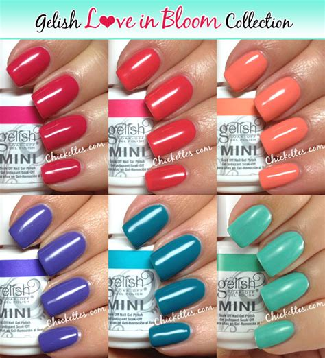 gelish color swatches gelish in bloom swatches 2013 collection