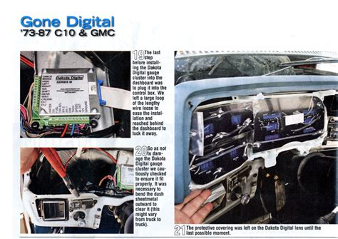 Garage Size dakota digital gauge installation