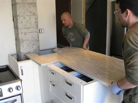 Installing Granite Countertop by Installation Michigan Granite Marble Quartz
