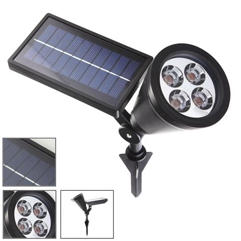 solar led spot light led solar powered spot lights for outdoors