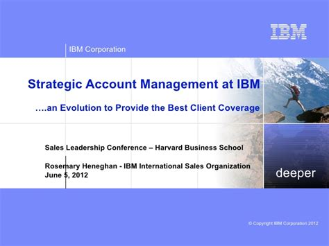 Account Manager Smb Harvard Mba Linkedin by 2012 Harvard Business School Ibm Coverage Model Linkedin
