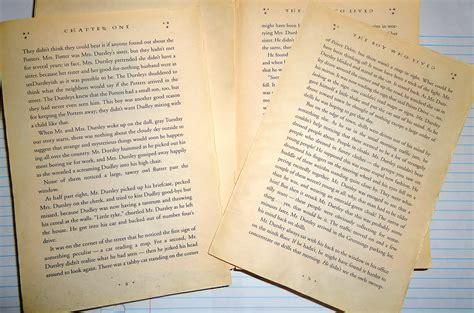 book pages a tattered personal edition of harry potter and the