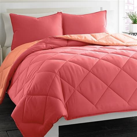 coral bedding sets city scene reversible coral comforter set from