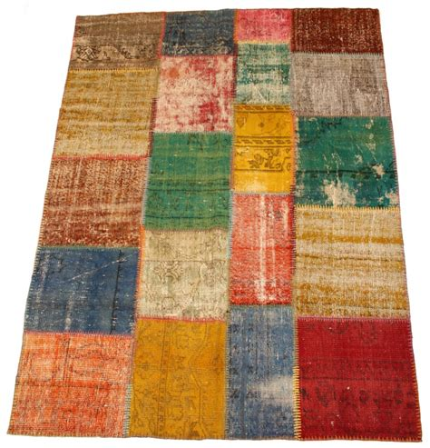 Patchwork Carpets - patchwork vintage carpet 230 x 170 cm