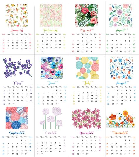 printable calendar 2016 flowers december 2016 calendar pdf 2017 printable calendar