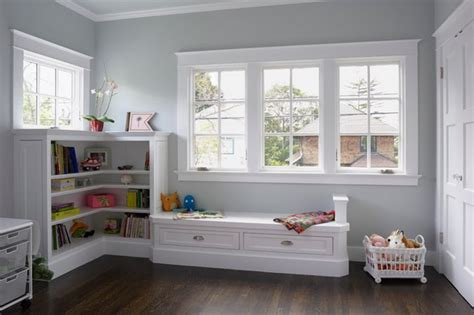 Craftsman Style Windows Decor Ideas Paper Cranes Windows Seats Room Trim Work Painting Colors Benjamin