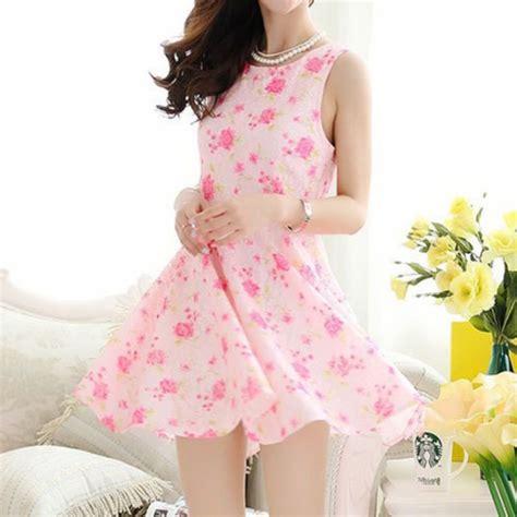 dress kawaii pink girly pink mini dress pink
