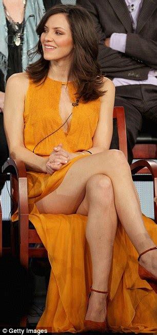 Orange Front Door by Smash Star Katharine Mcphee Puts Her Long Legs On Display
