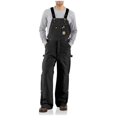 Carhartt Quilt Lined Duck Coveralls by Carhartt 174 Duck Quilt Lined Zip To Thigh Bib Overalls