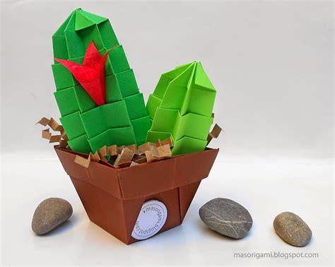 Origami Cactus - origami cactus de origami